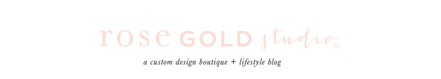 rose gold studio logo